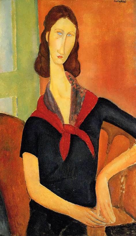 modigliani-JeanneHebuterneinaScarf
