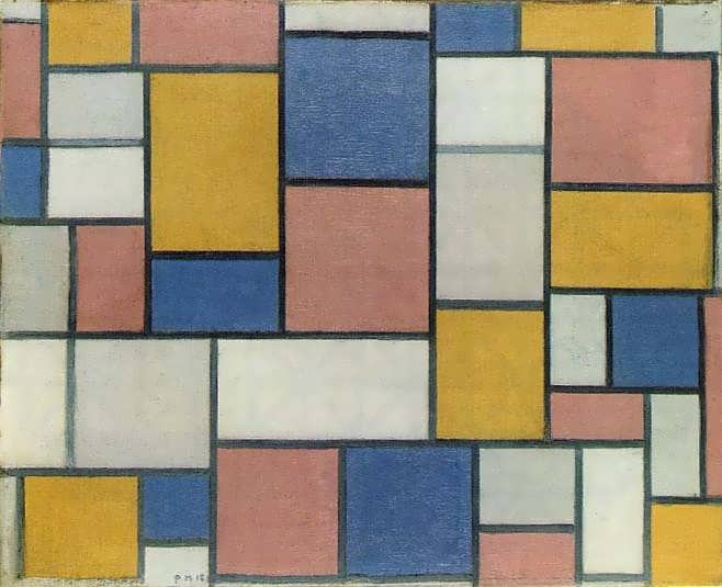 mondrian_Composition_with_color_planes_and_gray_lines_one