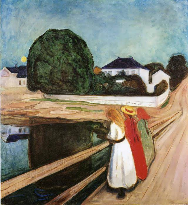 munch-TheGirlsontheBridge