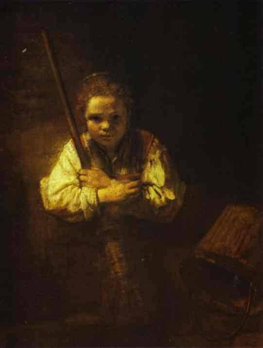 rembrandt-AGirlWithABroom