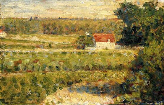 seurat-HousewithRedRoof